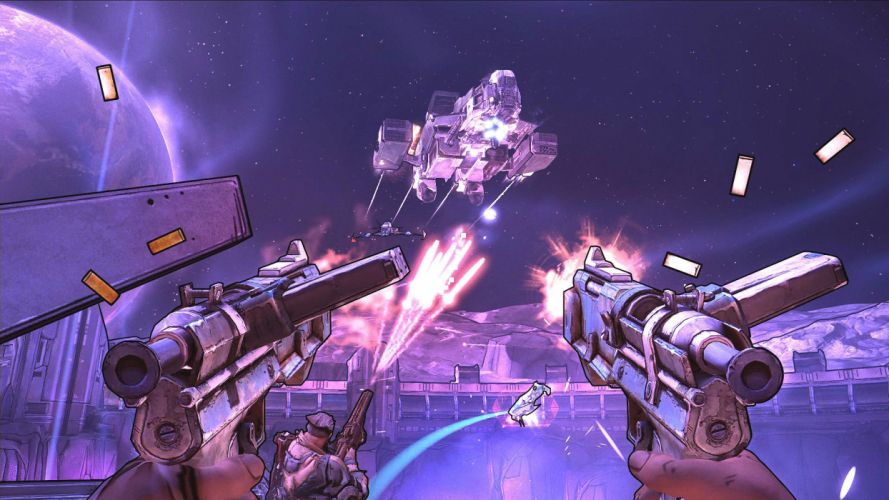 BORDERLANDS Pre-Sequel Vault Hunter action fighting shooter sci-fi adventure holodome onslaught wallpaper