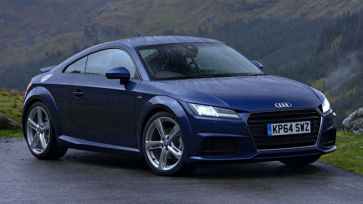 Audi-TT Coupe-S-line 2 0 UK cars blue rain speed motors wallpaper