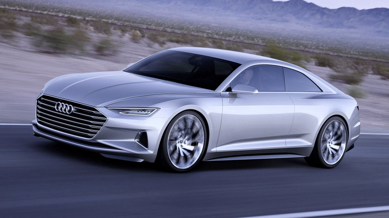 Audi prologue cars silver gray speed motors road wallpaper