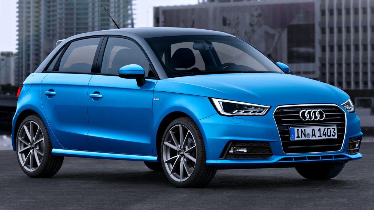 Audi-A1 Sportback-S-line TDI 2014 blue cars speed family motors life wallpaper