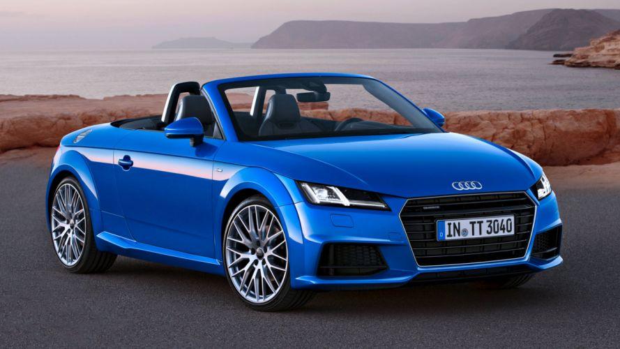 Audi TT Roadster-S-line 2 0 TFSI quattro speed cars motors sea blue wallpaper