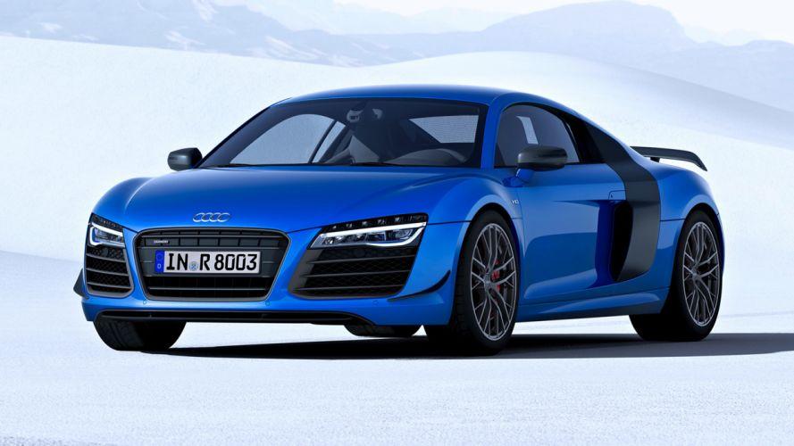 Audi R8 LMX blue speed cars motors race 2014 wallpaper