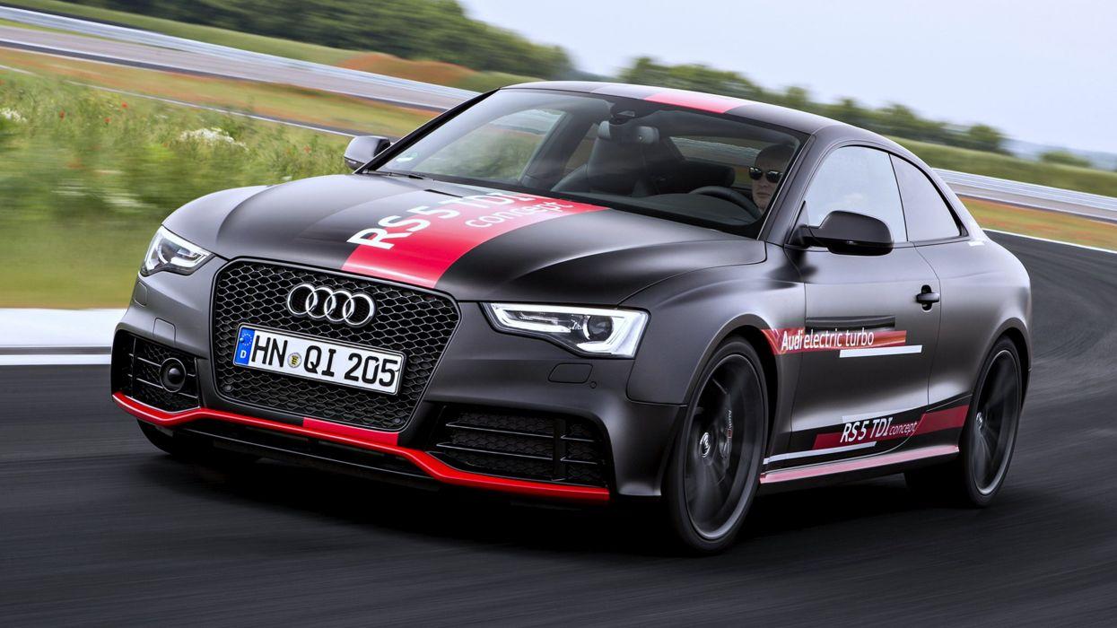Audi RS 5 TDI concept race cars speed motors turbo black wallpaper