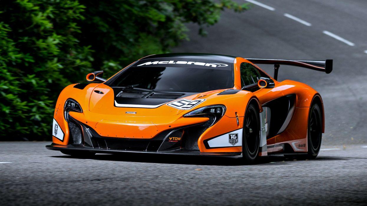 McLaren 650S GT3 speed cars race motors orange road super wallpaper