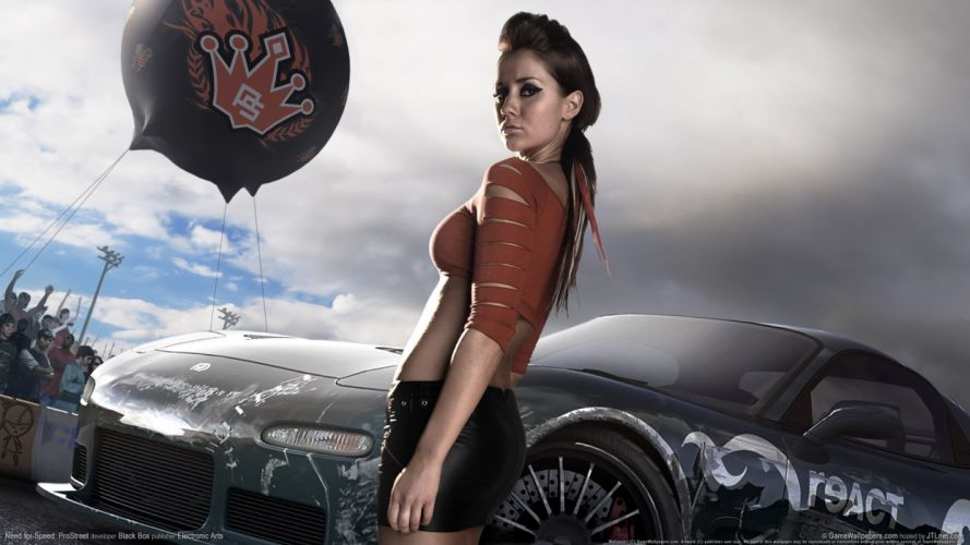 GAMES - need for speed prostreet girls car wallpaper
