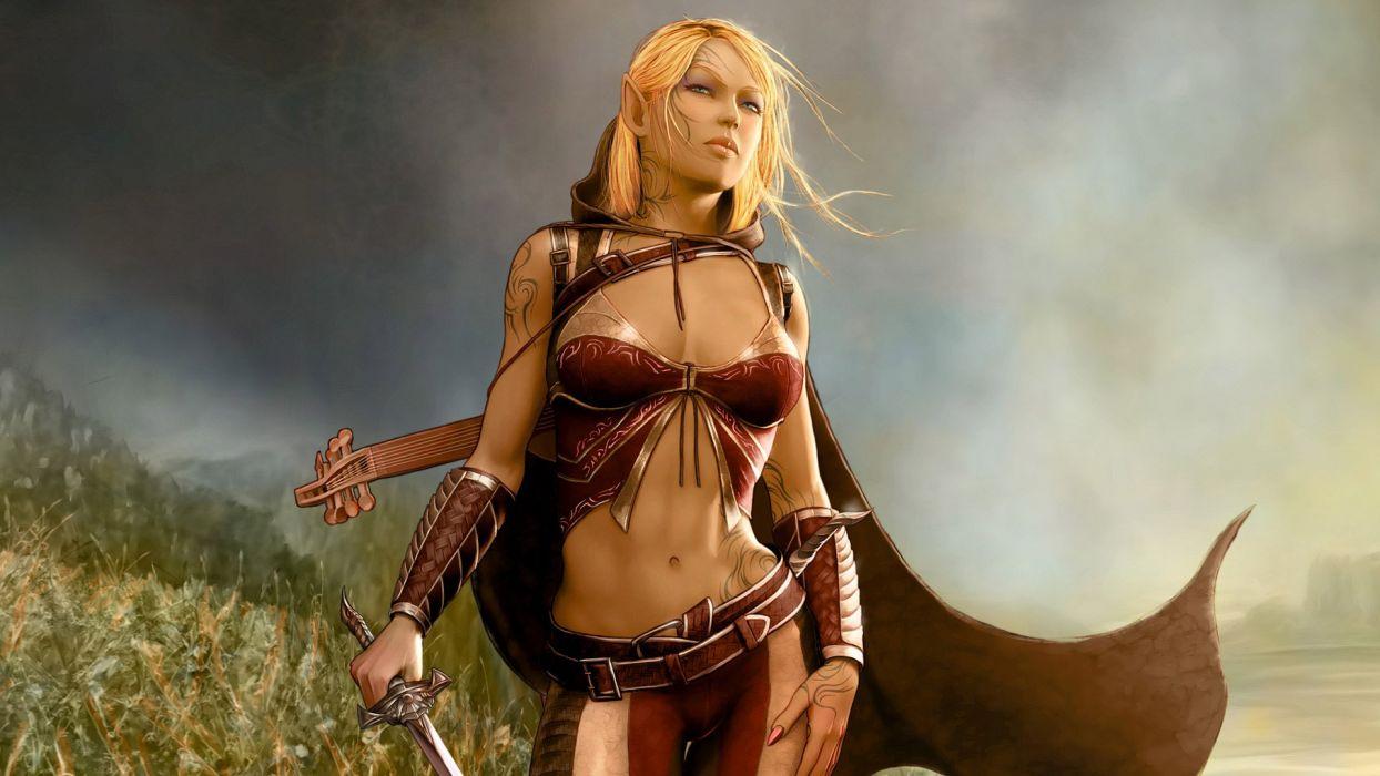 WARRIORS WOMENS - girl sword art fantasy wallpaper