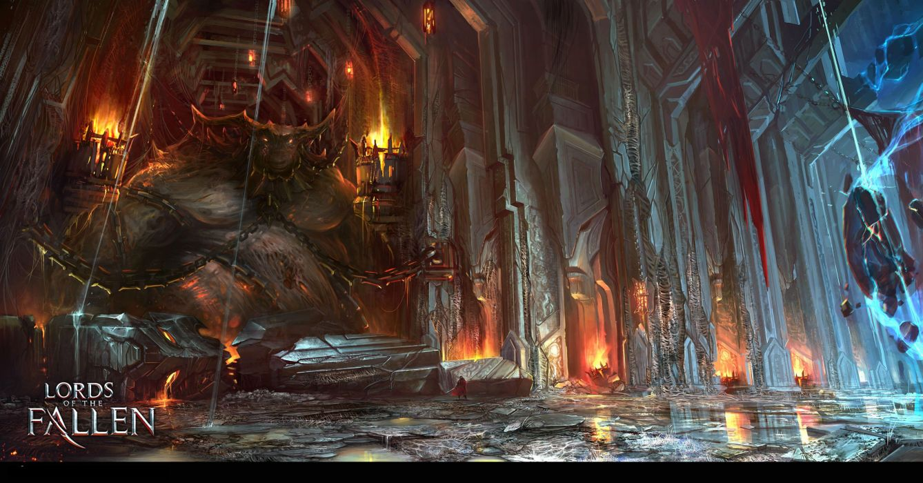 LORDS OF THE FALLEN fantasy action fighting rpg combat battle 1lfallen medieval warrior poster wallpaper