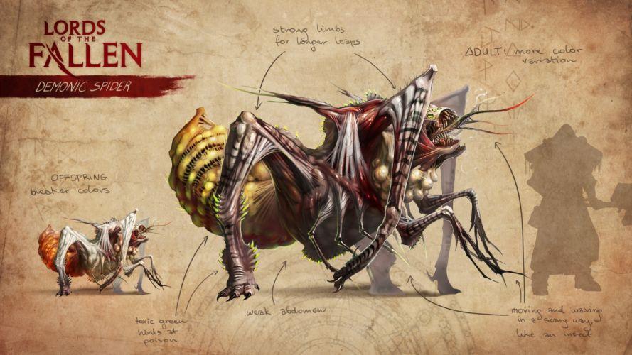 LORDS OF THE FALLEN fantasy action fighting rpg combat battle 1lfallen medieval warrior poster wallpaper