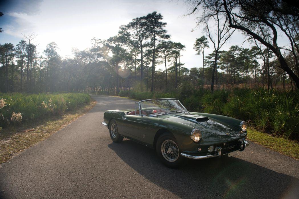 1960 Ferrari 400 Superamerica SWB Cabriolet classic supercar wallpaper
