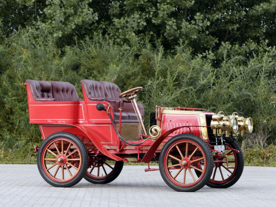 1903 Darracq 12HP Rear-Entrance Tonneau retro vintage wallpaper