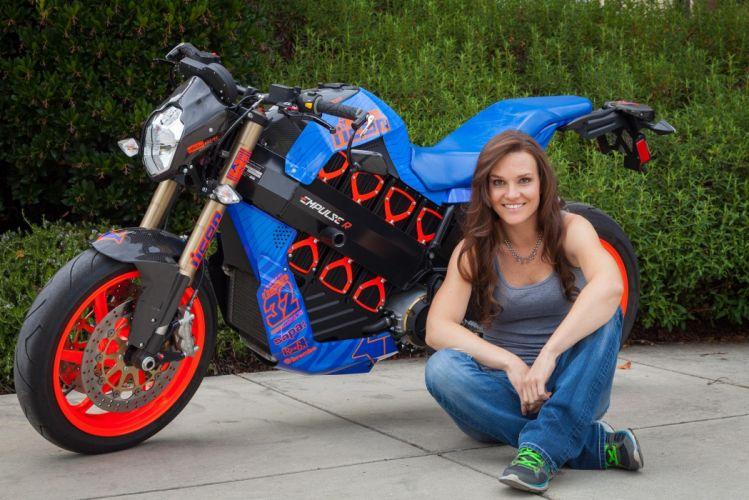 2015 Brammo Eboz Electric Superbike race racing sexy babe wallpaper