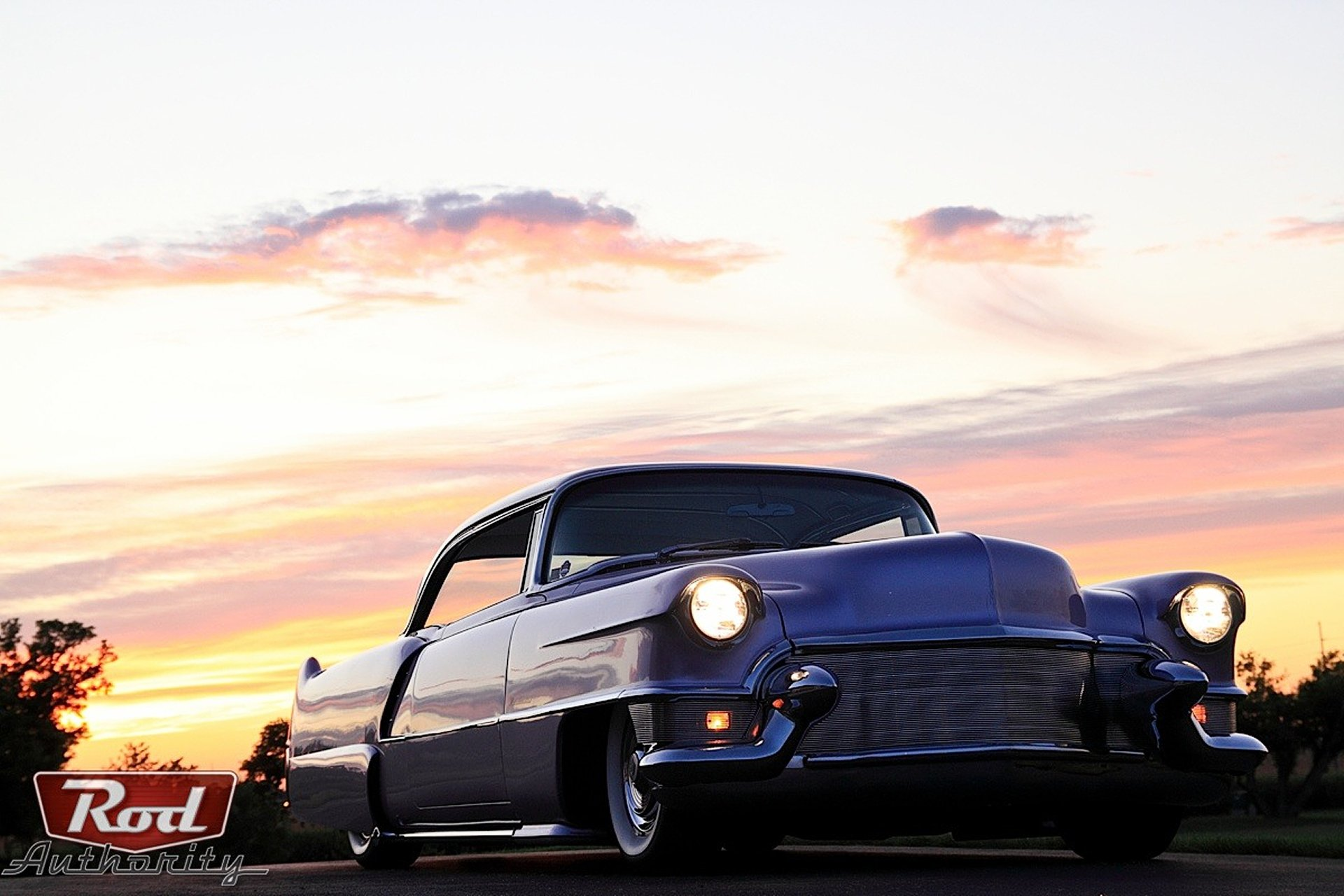 1955 Cadillac -Coupe de Ville-05 wallpaper