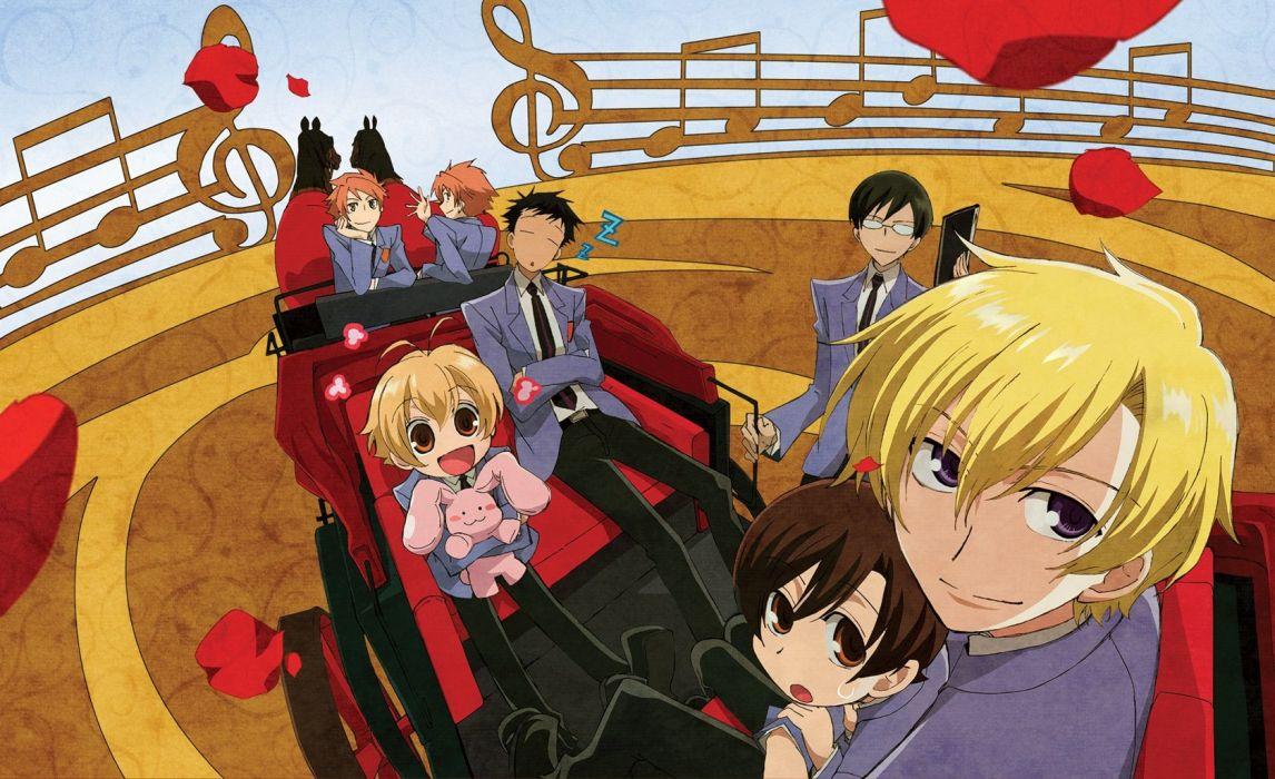 anime series ouran high school host club rose petals wallpaper