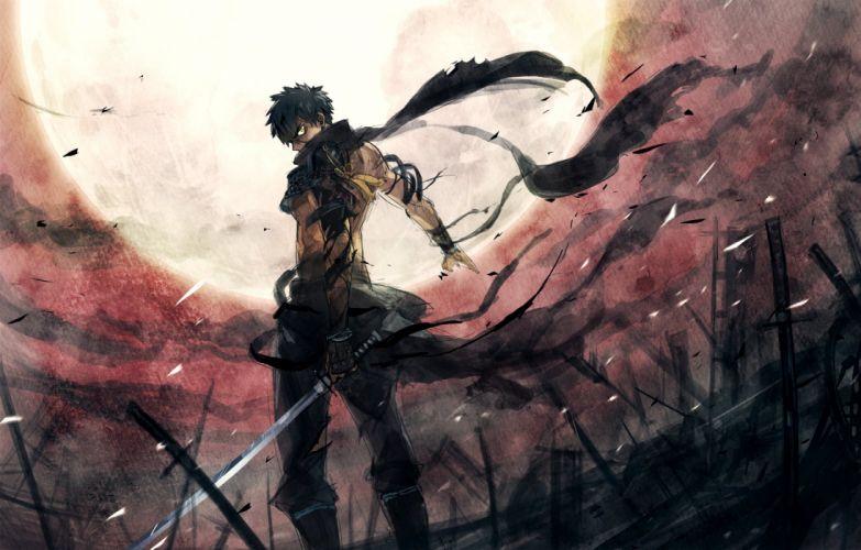 touken ranbu anime game character sword war warrior wallpaper