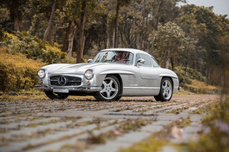 1954 Mercedes Benz 300SL AMG W198 tuning retro wallpaper