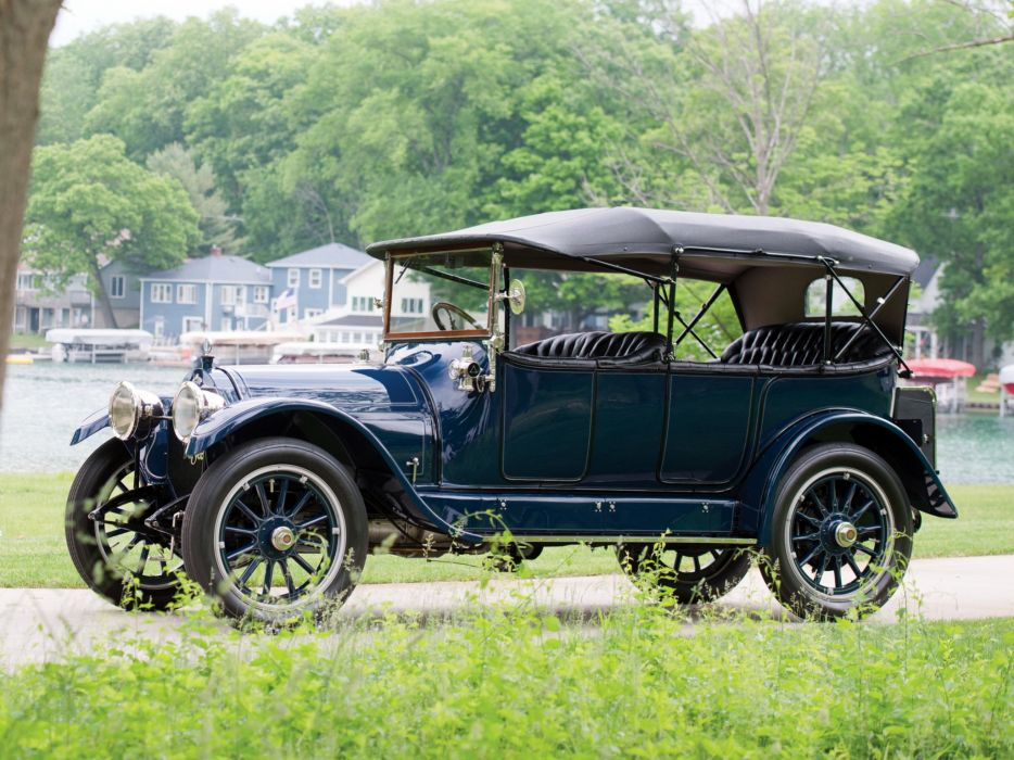 1913 Stevens Duryea Model-C5-passenger Touring luxury retro vintage wallpaper