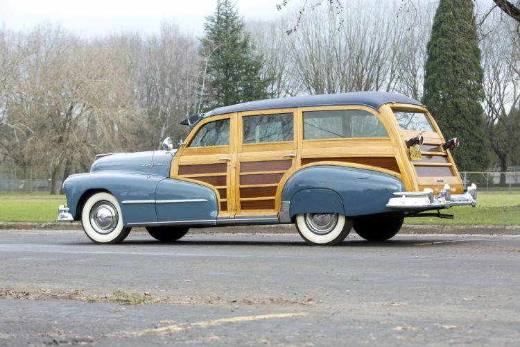 1948 Pontiac Streamliner Eight StationWagon 8PB woody retro wallpaper