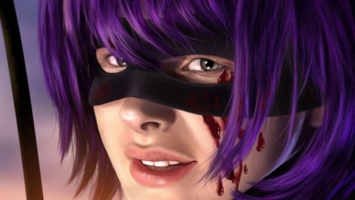 FACE - chloe moretz celebrity girl mask blood wallpaper