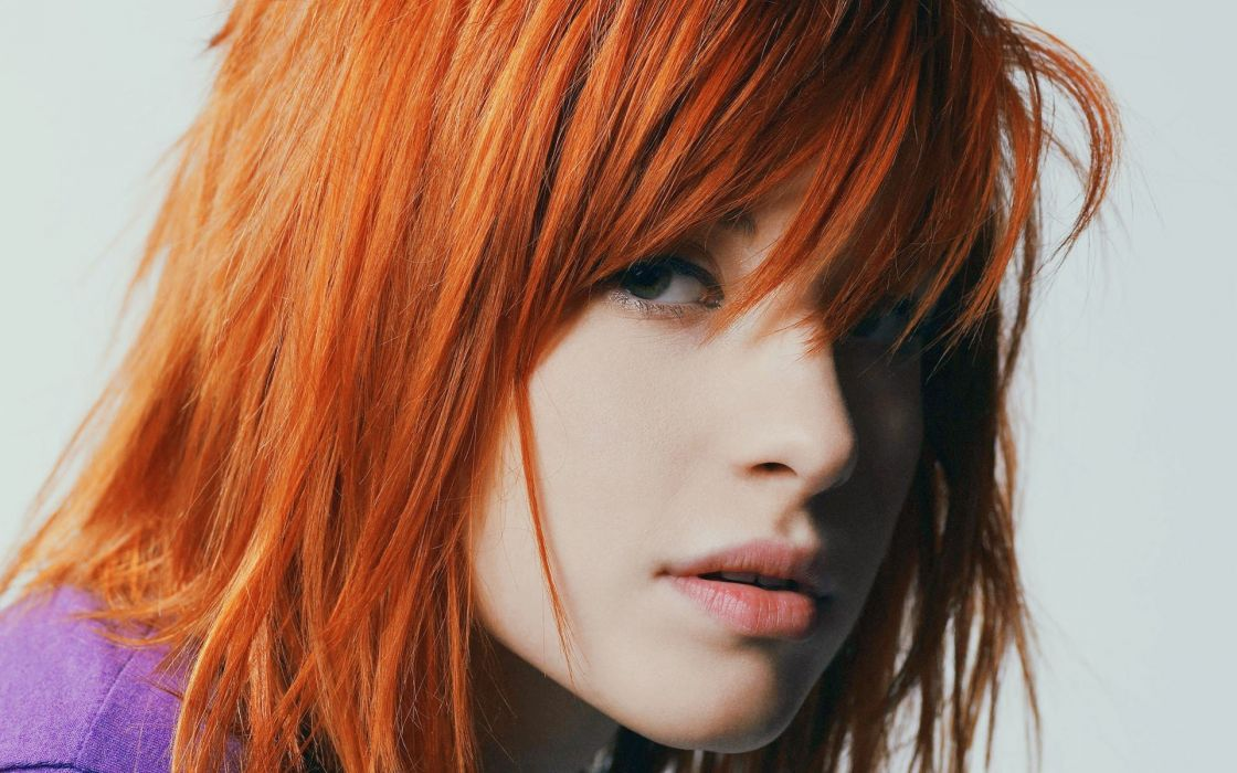 FACE - hayley williams singers sensuality girl redheads lips wallpaper
