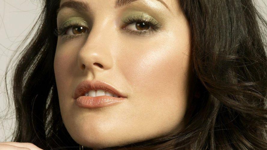 FACE - sensuality minka kelly celebrity girl bunette lying actress wallpaper
