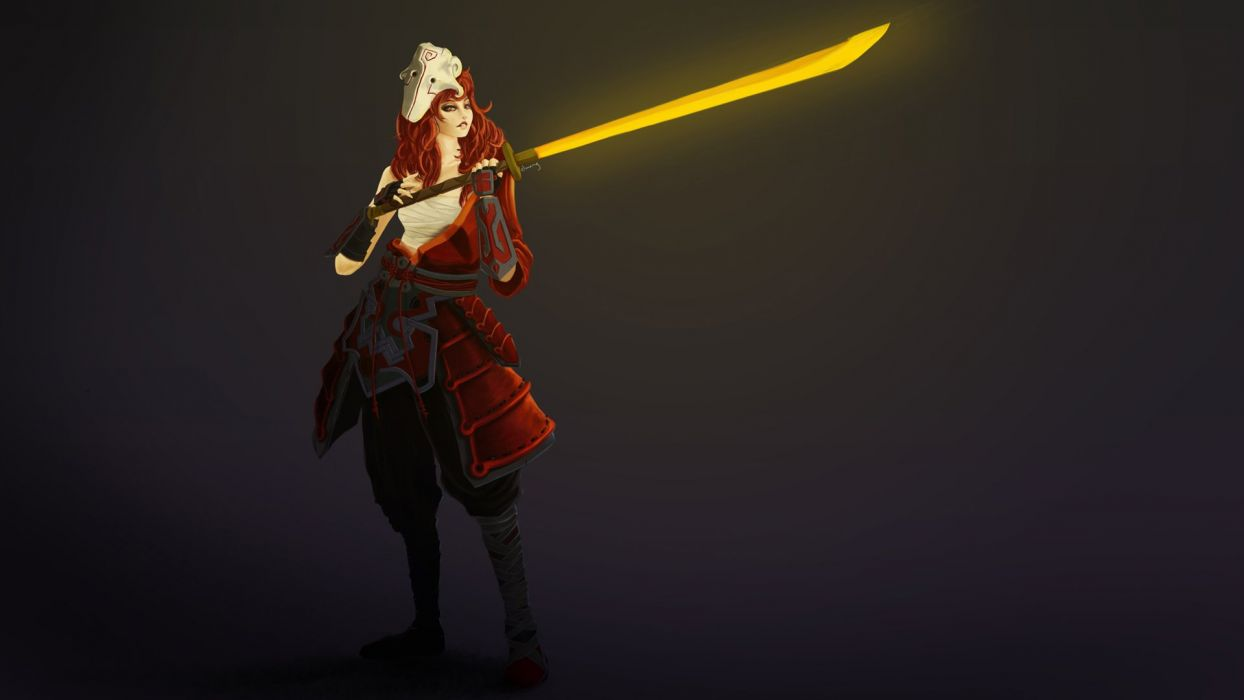 GAMES - juggernaut dota2 girl version sword wallpaper