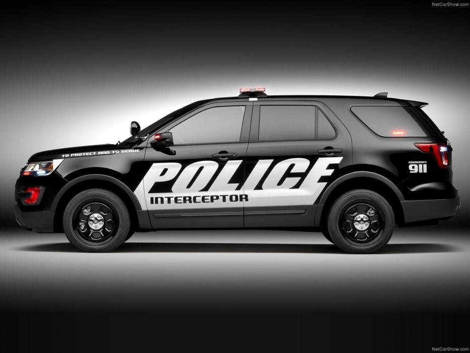 2016 Ford interceptor police utility vehicle suv wallpaper