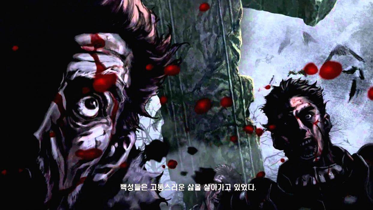 DARK BLOOD ONLINE arcade scrolling fantasy rpg mmo action fighting 1dbo warrior poster dark blood wallpaper