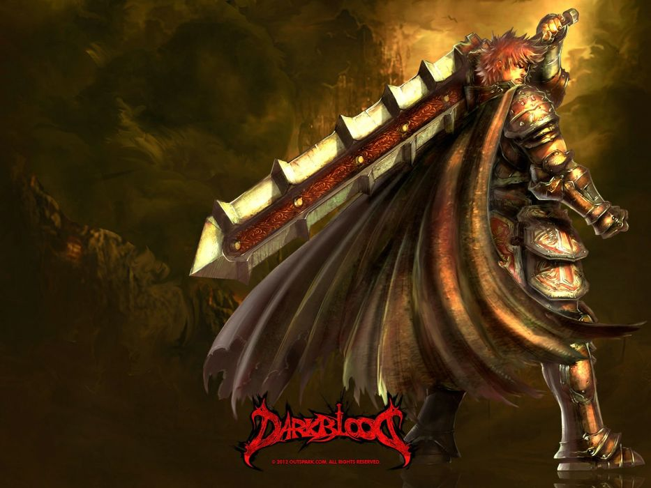 DARK BLOOD ONLINE arcade scrolling fantasy rpg mmo action fighting 1dbo warrior poster wallpaper