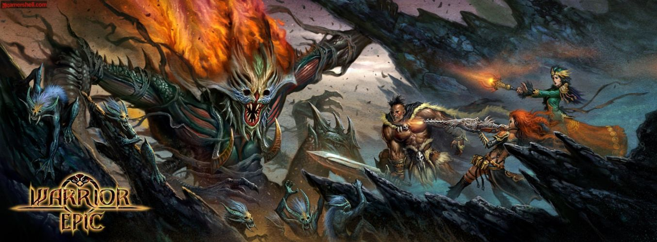 WARRIOR EPIC fantasy mmo rpg fighting online 1weo action wallpaper