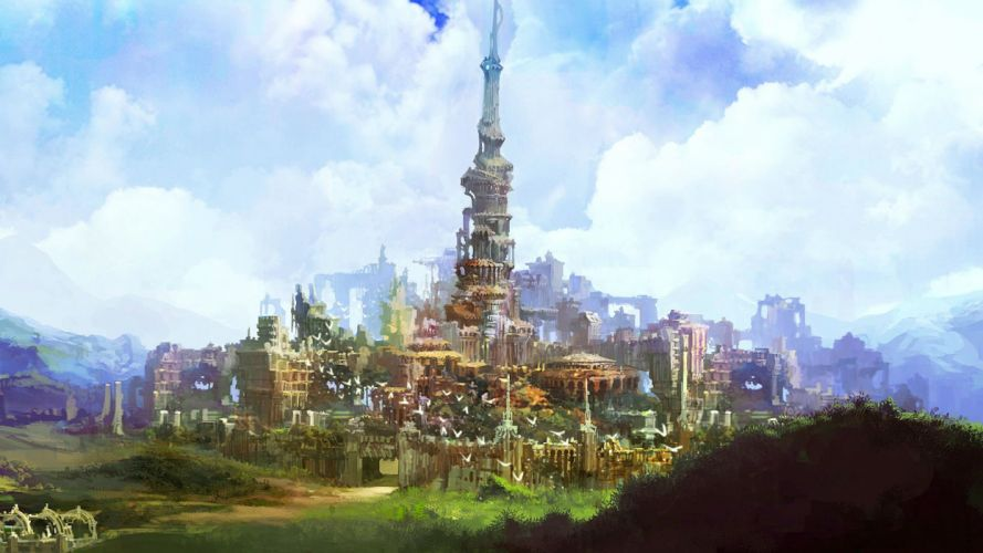 ECHO Of SOUL fantasy mmo rpg online action fighting 1eos city castle wallpaper
