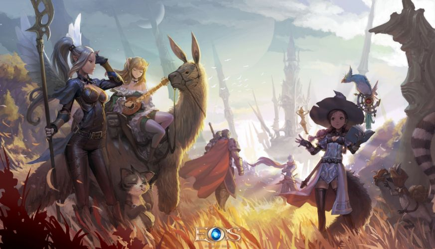 ECHO Of SOUL fantasy mmo rpg online action fighting 1eos warrior wallpaper