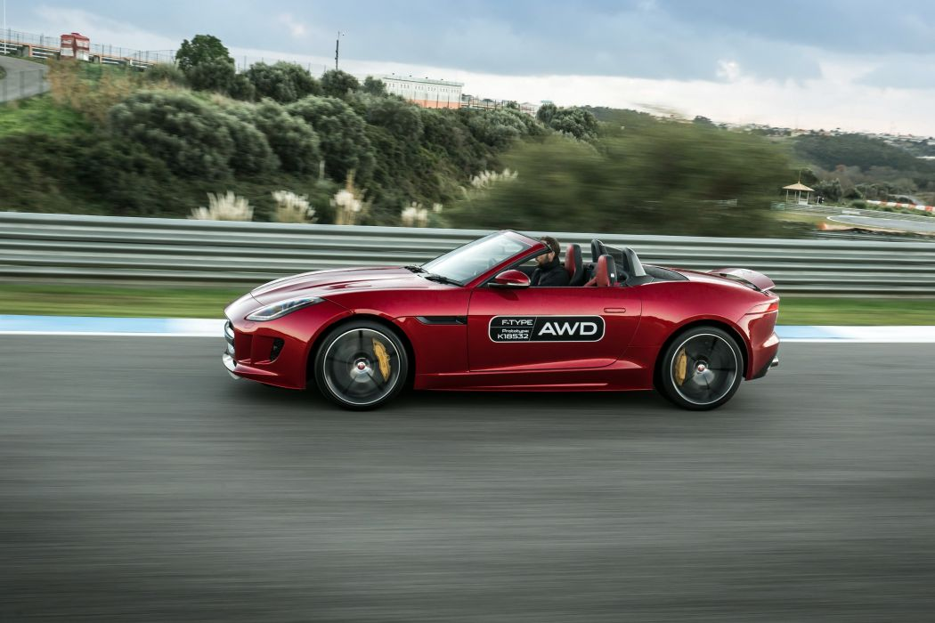 2015 Jaguar F-Type R AWD Cabriolet UK-spec supercar wallpaper
