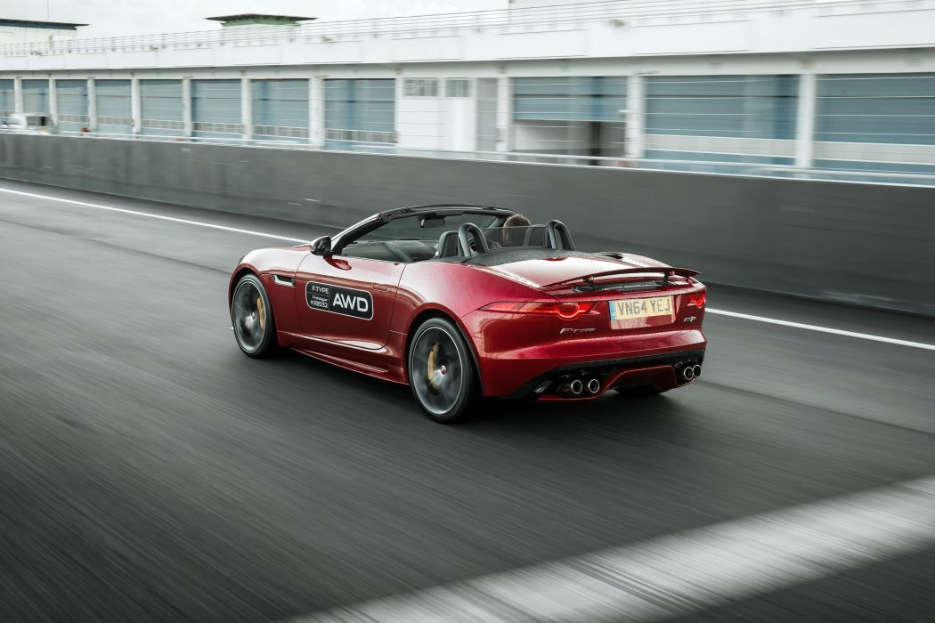 2015 Jaguar F-Type R AWD Cabriolet UK-spec supercar wallpaper