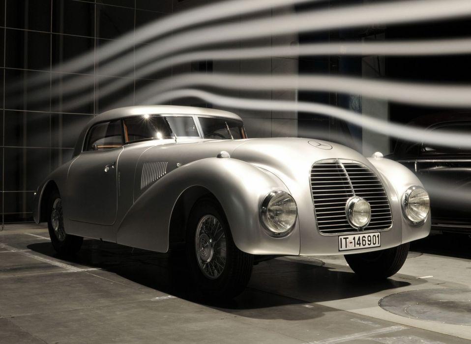 1938 Mercedes Benz 540K Streamliner W29 luxury retro vintage wallpaper