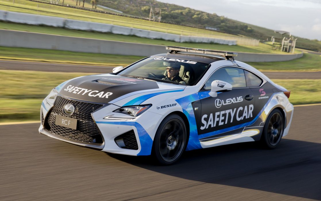 2015 Lexus RCF Safety Car race racing supercars wallpaper