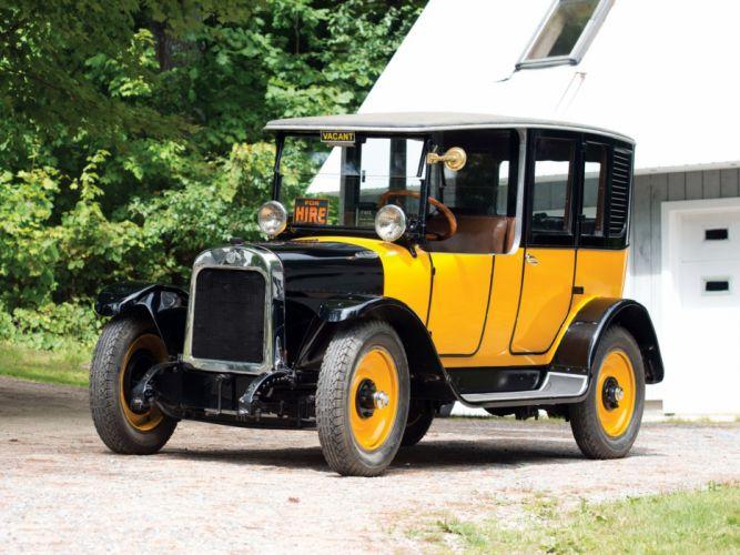1923 Yellow Cab Model-A2 Brougham Taxi transport retro vintage wallpaper