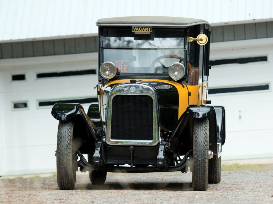 1923 Yellow Cab Model-A2 Brougham Taxi transport retro vintage wallpaper