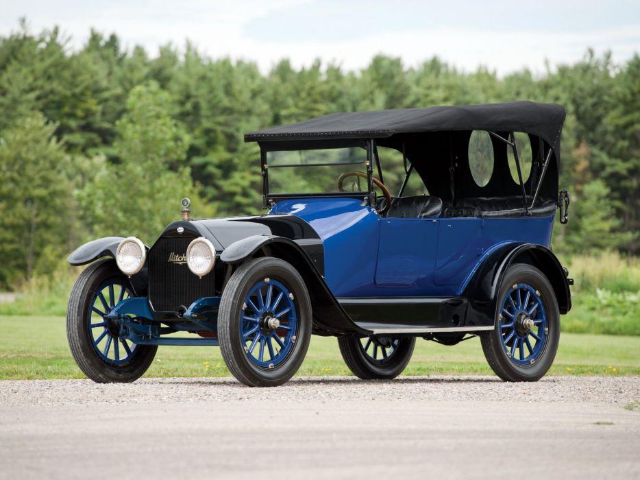 1915 Mitchell Light Six 6-passenger Touring retro vintage wallpaper