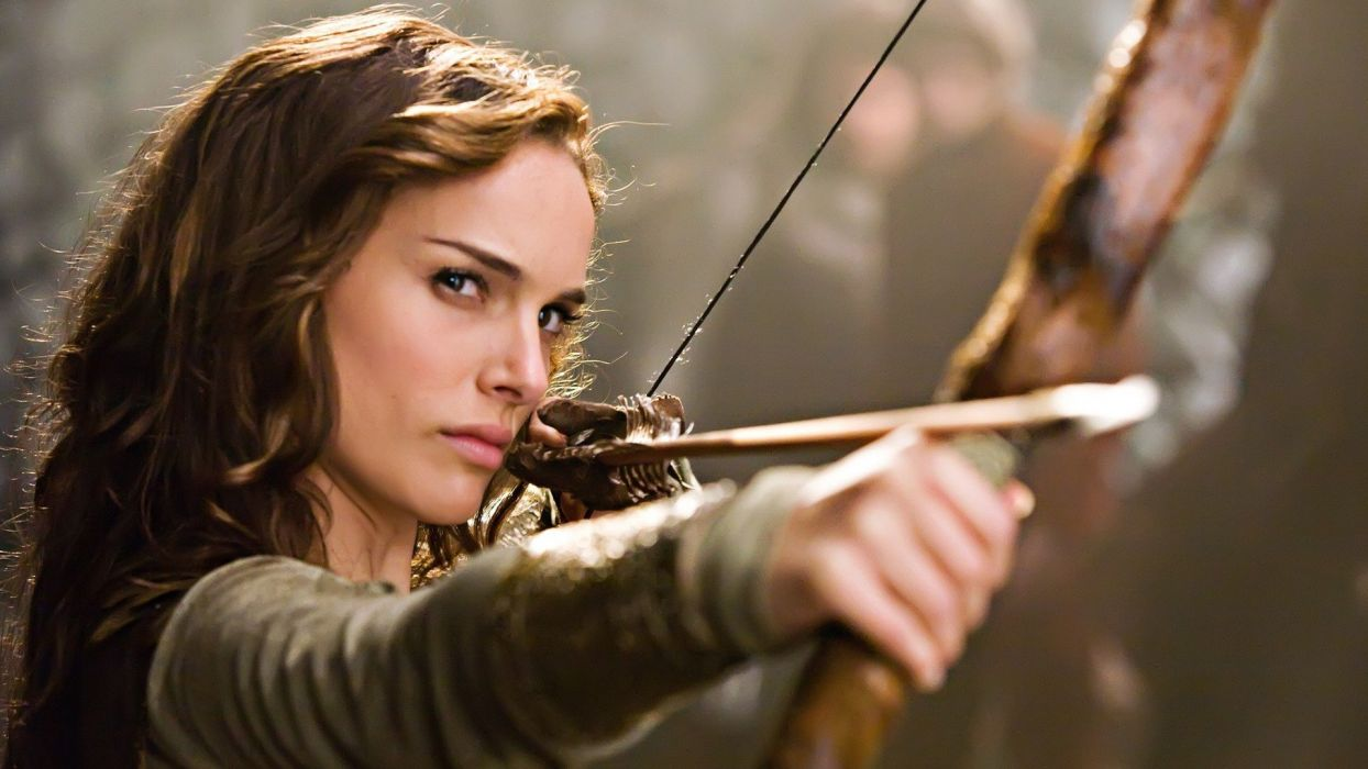 MOVIE - natalie portman celebrity girl brunette arrow wallpaper