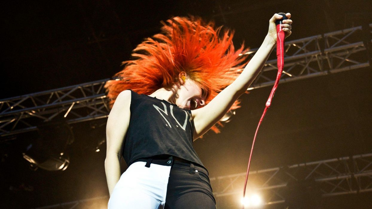 SENSUALITY - hayley williams singers girl redheads singing wallpaper