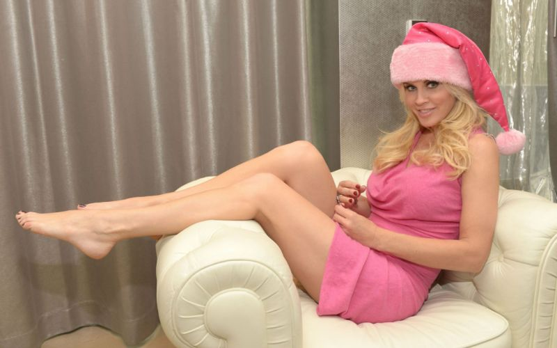 SENSUALITY - jenny mccarthy celebrity girl blonde Christmas wallpaper