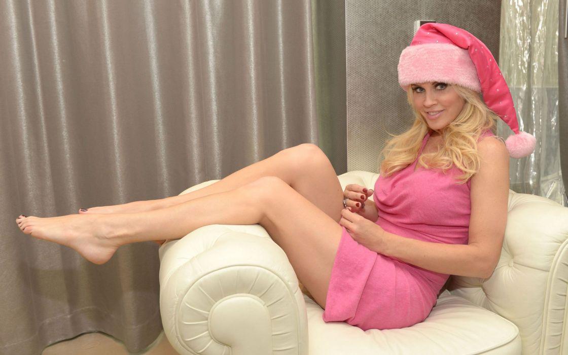 SENSUALITY - jenny mccarthy celebrity girl blonde Christmas wallpaper