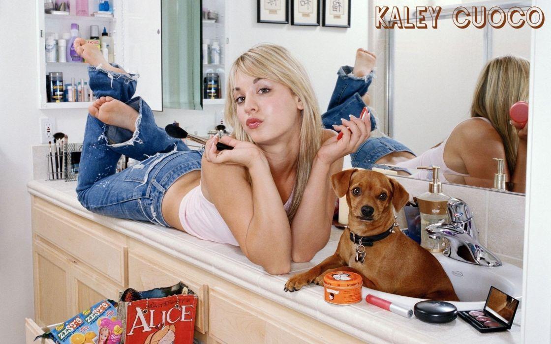 SENSUALITY - kaley cuoco The Big Bang Theory blonde charming wallpaper