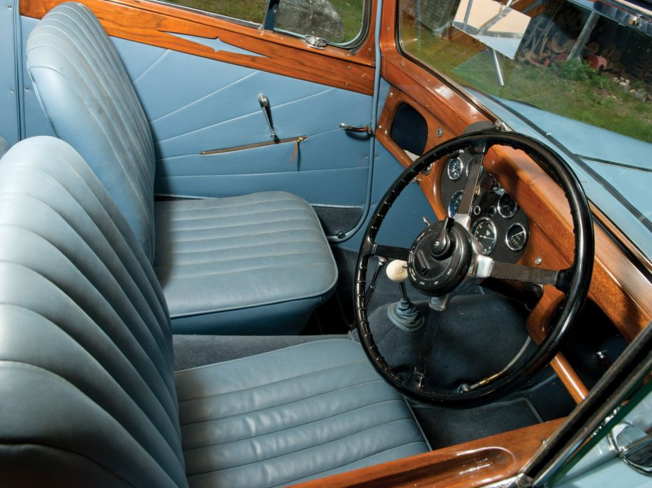 1938 A-C Six Model- 1670 Drophead Coupe luxury retro vintage wallpaper