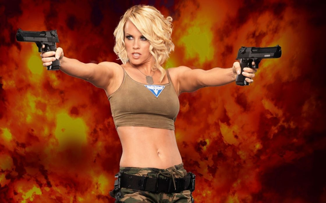 WOMEN AND GUNS - jenny mccarthy blonde girl cosplay command and conquer games pistols wallpaper