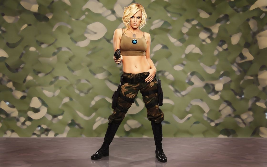 WOMEN AND GUNS - jenny mccarthy blonde girl cosplay command and conquer games wallpaper