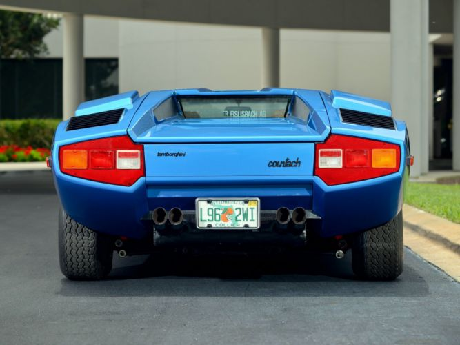 1975 Lamborghini Countach LP400 Periscopica Bertone us-spec classic supercar wallpaper