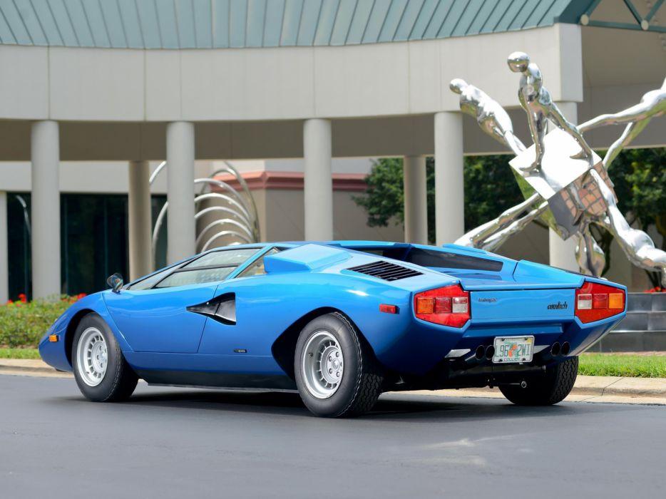 1975 Lamborghini Countach LP400 Periscopica Bertone us-spec classic supercar wallpaper