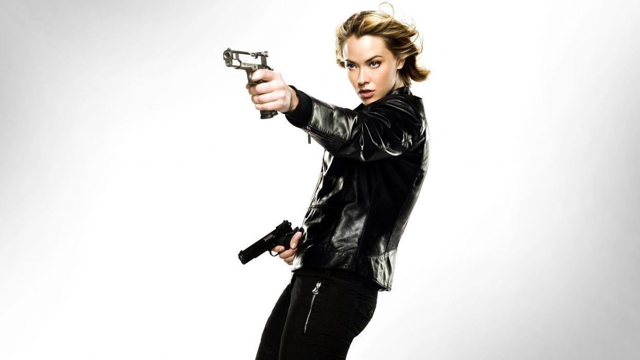 WOMEN AND GUNS - kristanna loken Painkiller sensuality girl blonde wallpaper