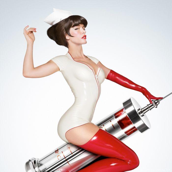 WOMEN AT WORK - nurse 3D girl brunette sensuality wallpaper